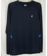 Fila Sport Navy Blue Athletic Bicycle Long Sleeve Shirt Mens M - $12.12