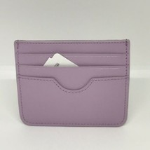 Neiman Marcus Crosshatched Leather Slim Card Case/Wallet.Lilac - $26.18