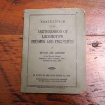 1909 Constitution of Brotherhood of Locomotive Firemen and Enginemen Book - $39.99