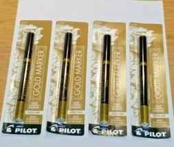 4 Pack Pilot Gold Metallic Permanent Paint Marker Extra Fine Point (41500) - $21.77