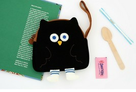 Brunch Brother Flying Owl Pouch Cosmetic Bag Case Organizer (Black) image 2