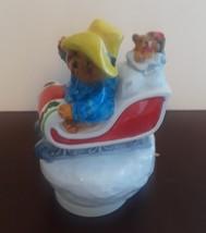 Paddington Bear Schmid 1982 Vintage Music Figurine Jingle Bells Porcelai... - $18.63