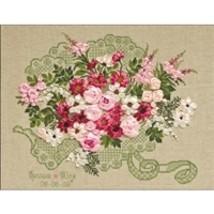 RIOLIS Counted Cross Stitch Kit, Wedding Bouquet, Kit #R1072 - $37.19