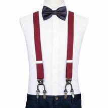 Unisex Suspender Set Width Adjustable Elastic Fashion Braces Suit Wear 125Cm image 3