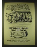 1960 First National City Bank of New York Travelers Checks Ad - William ... - $14.99