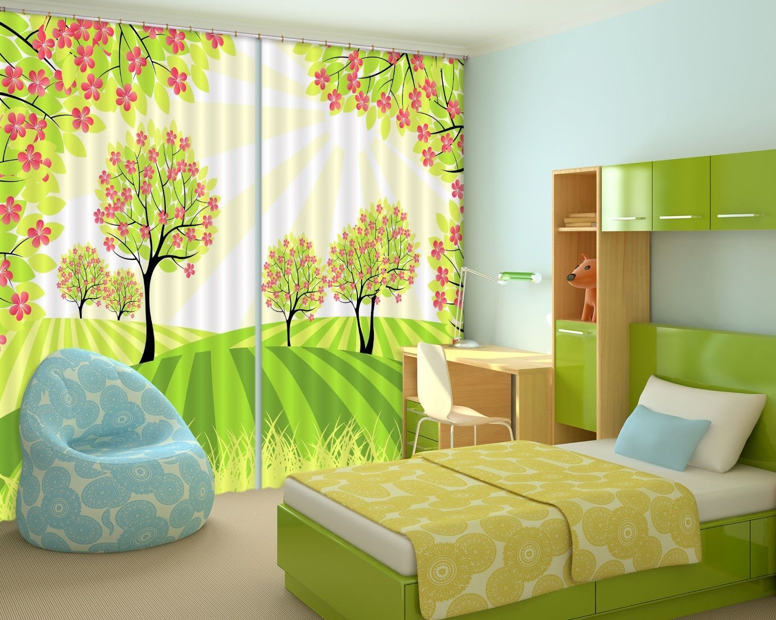 Primary image for 3D Nice Trees 2 Blockout Photo Curtain Printing Curtains Drapes Fabric Window AU