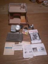 Polaroid Land Camera Model 80B With Original Case, Flash,  Bulbs And Win... - $27.69