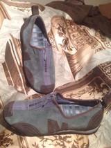 Merrell Barrado Stone BLUE/BROWN Nubuck Suede Zip Sport Loafers Shoes Sz. 7.5M - $42.56
