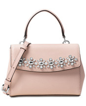 MICHAEL KORS Ava Jewel Mini Crossbody Messenger Pink Ballet NWT - $128.21