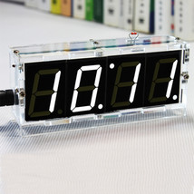 DIY 4 Digit LED Electronic Clock Kit Temperatur... - $10.67
