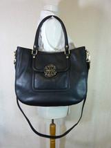 NWT Tory Burch Classic Black Pebbled Leather Amanda Classic Hobo - $485 - $443.52