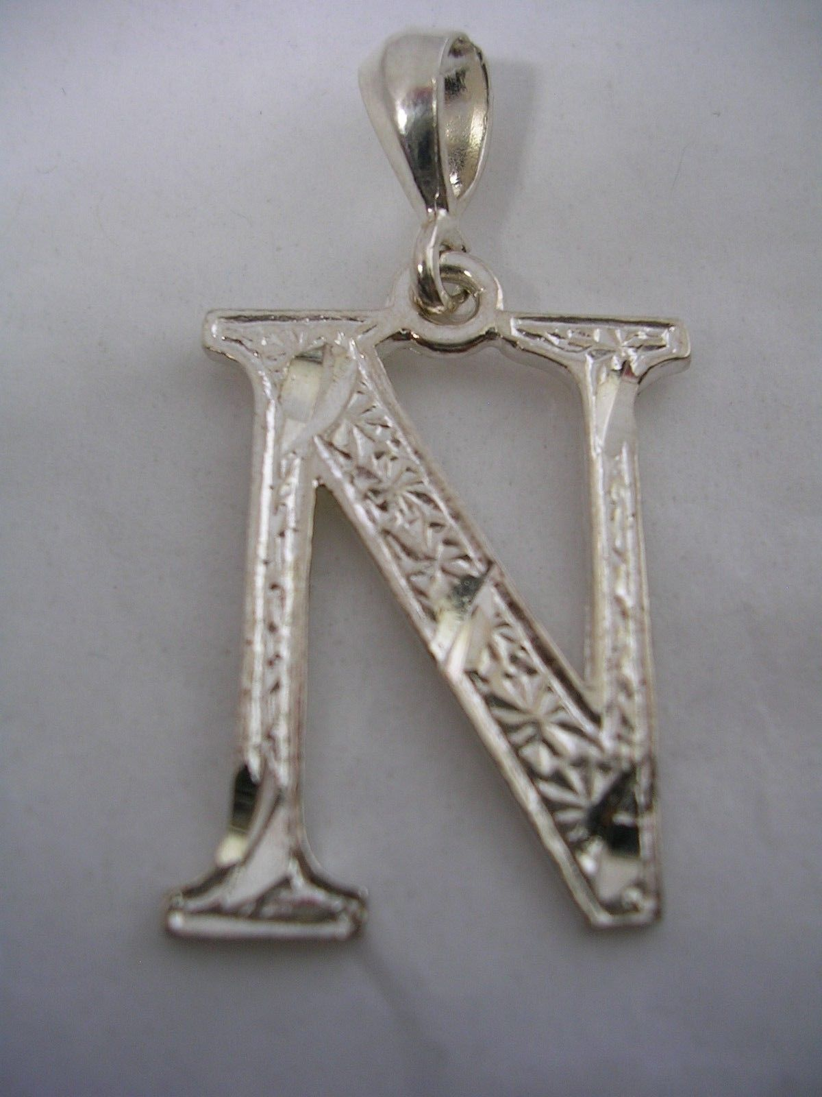 Initial letter n pendant sterling silver beautiful design with 57 aloadofball Gallery