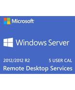 Microsoft Windows Server 2012 R2 Remote Desktop Services RDS 5 USER CAL Key - $280.00