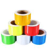 Reflective Film Car Reflective Tape White Honeycombs Vinyl Roll Self-adh... - $9.88