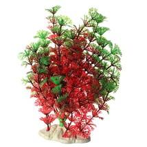 Red Green Artificial Fish Tank Aquarium Plastic Water Plants Grass Orna... - $191,79 MXN