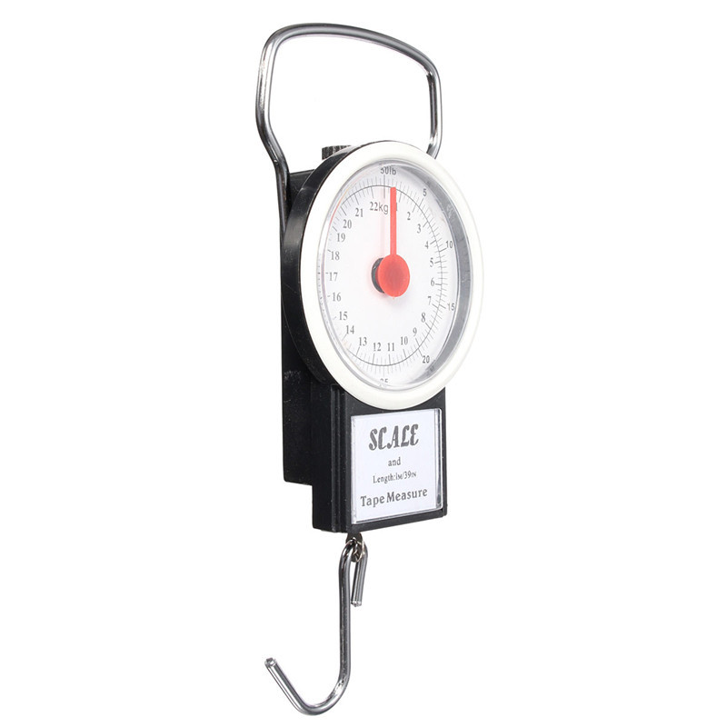 16 new arrival portable luggage travel scale hanging suitcase hook 22kg 50lb with measuring tape