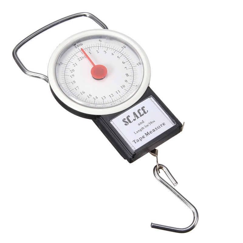 2016  Portable Luggage Travel Scale Hanging Suitcase Hook 22kg 50lb with Measuri