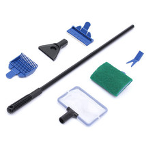 New 5 in1 Aquarium Tank Cleaner Supplies Brush Clean Fish Net Gravel Rak... - $282,30 MXN
