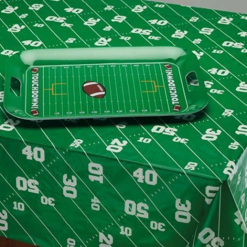 Football table cloth party Graduation Birthday Superbowl Party 52x70 in