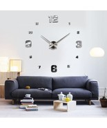 Hot sales  Luxury Large Design DIY 3D Mirror Wall Clock Watch Hours Home... - $42.87
