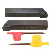 2Pcs Of SDJCR/L 16x100mm Lathe Turning Tool Holder For DCMT0702 Insert ... - $908,80 MXN