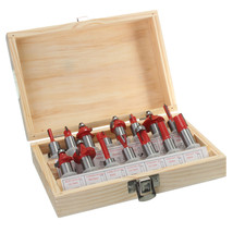 15PCS/Set 1/2InchShank Tungsten Carbide Router Bit Set with Wood Case Wo... - $81.69