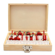 15PC 1/4 Inch Professional Shank Tungsten Carbide Router Bit Set + Wood ... - $72.70