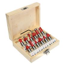 12Pcs 1/2 Inch 12.7MM Professional Router Bit Wood Cutter Set Shank Tun... - $1.158,11 MXN