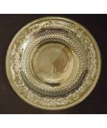 Trellis Pattern Clear Sandwich Glass Dinner Plate Crystal Clear Indonesia  - $9.95
