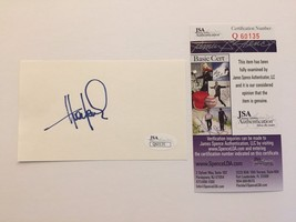 HUEY LEWIS SIGNED CUT SIGNATURE JSA COA AUTOGRAPH AND THE NEWS BACK TO F... - $49.00