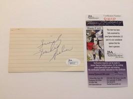 FRANKIE AVALON DOUBLE SIGNED CUT SIGNATURE JSA COA AUTOGRAPH WHY GINGER ... - $39.00