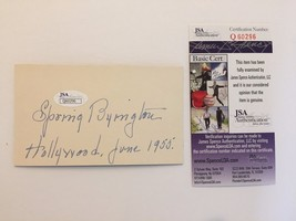 SPRING BYINGTON SIGNED CUT SIGNATURE JSA COA AUTOGRAPH YOU CAN'T TAKE WI... - $49.00