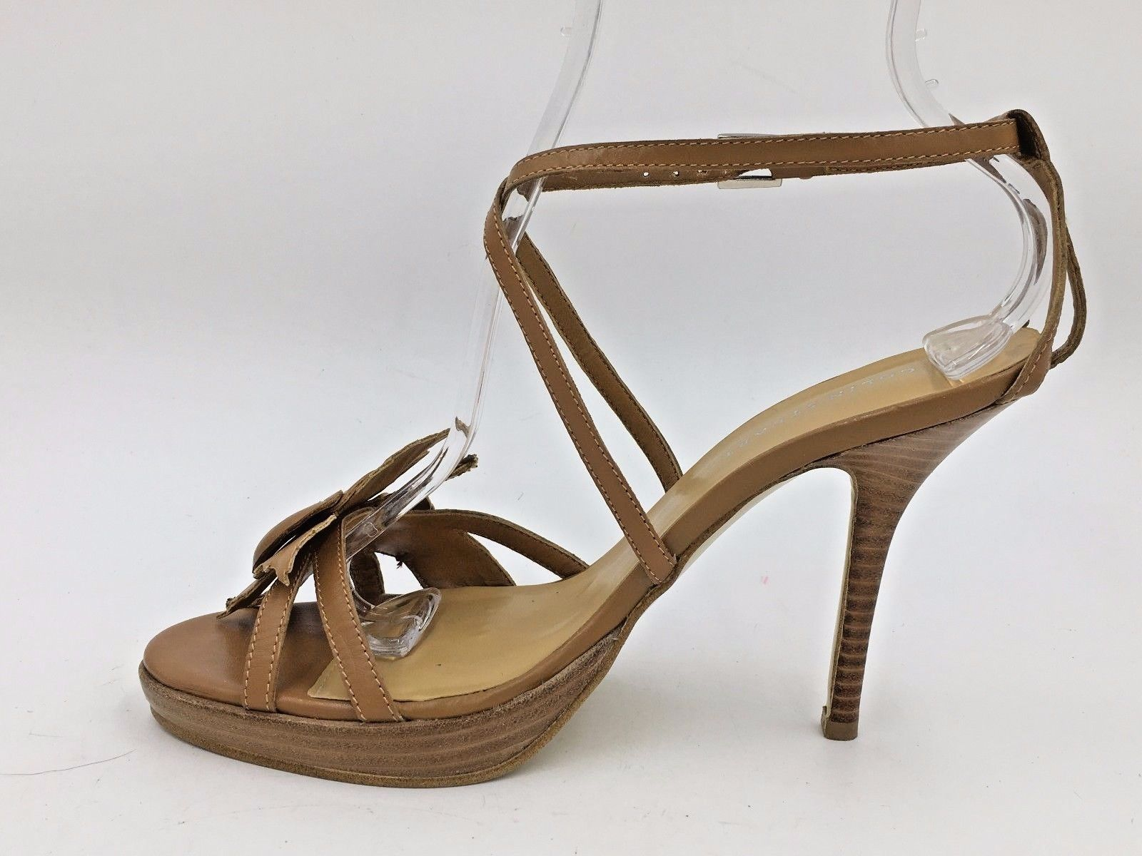 33a3d2a95dcd1a Colin Stuart Brown Genuine Leather Flower Sandals Stiletto Heels size 8M  NWOB B3