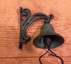 Vine Bell Cast Iron Wall Mounted Black & Dark G... - $21.25