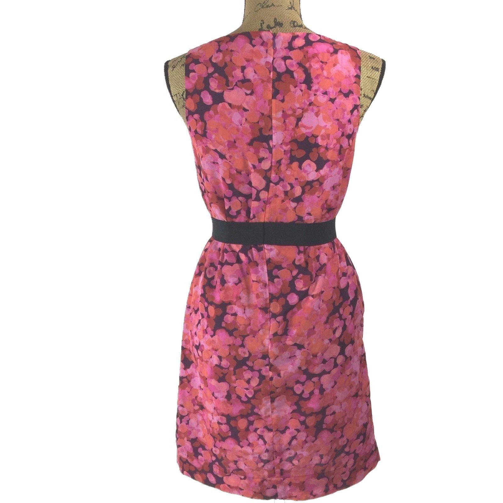 SET Ann Taylor LOFT Dress J.Crew Clare Cardigan Sweater Pink Purple Black 2 S LN image 8