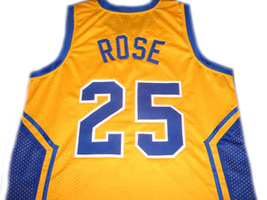 Derrick Rose #25 Simeon High School Men Basketball Jersey Yellow Any Size image 2