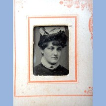 antique VICTORIAN TINY PHOTOGRAPH ALBUM w/27 IMAGES men/women BLACK & WH... - $124.95