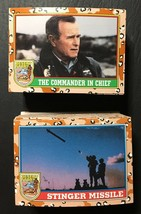 Topps Desert Storm Series 1 & Series 2 Complete Set 1-176 & 11 Flag Stickers - $7.43