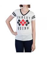 Harley Quinn Diamond Logo Varsity V-Neck - $22.97
