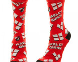 Harley quinn heart logo tossed print jr crew socks thumb155 crop