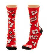 Harley Quinn Heart Logo Tossed Print Jrs Crew Socks - $8.88+