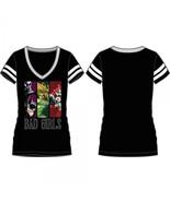 Justice League Bad Girls Varsity V-Neck T-Shirt - $15.97