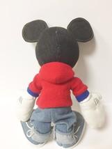 Disney Applause Black Denim Stuffed Mickey Mouse  image 4