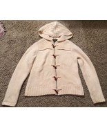 Women's Eddie Bauer Cream, Wool Blend, Full Zipper, Cardigan Sweater, Si... - $33.99