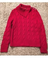 Women's Lauren Ralph Lauren Petite 100% Cotton Red Sweater, Size P/L - $29.99