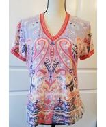 Etro Spa Designer Women's Multi Colored Top  Size 48 / L  - $125.00