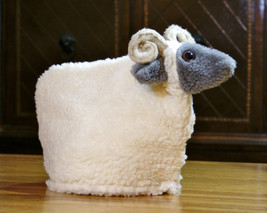 Handcrafted White Sheep Textured Soft Fabric Tea Cozy - $70.00
