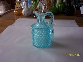 Fenton for L G Wright Blue Hobnail Cruet   Was $74 now $50 - $50.00