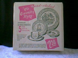 Old Curriosity Shop Complete Place Setting In Original Box - $11.88