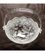 Mikasa Holiday Classics Crystal Handled Basket NIB - $12.99